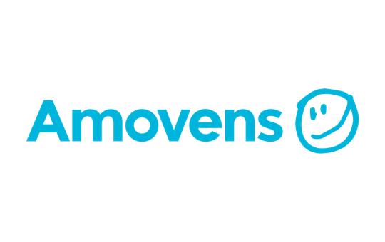 Press logo blue amovens