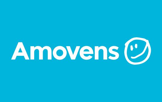 Press logo white amovens