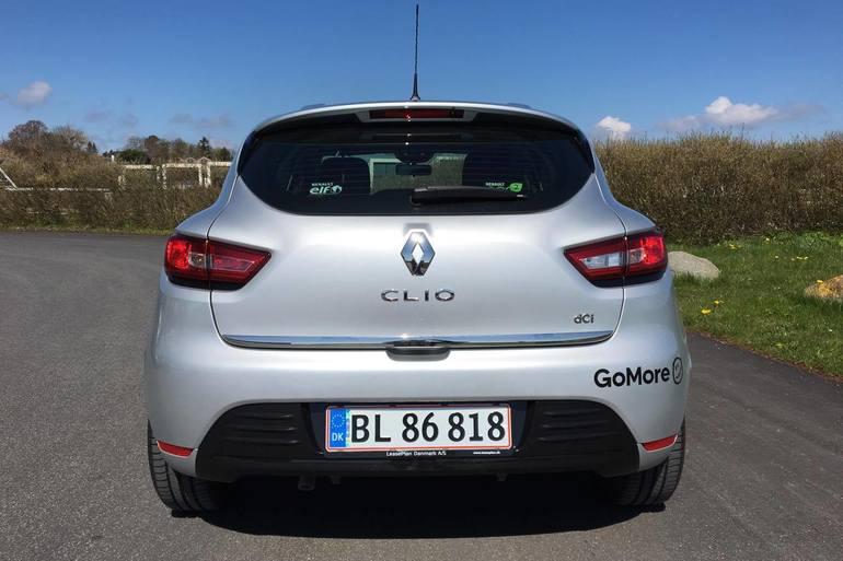Billig billeje af Renault Clio 1,5 Diesel - Fri p-plads ved Nørreport med Isofix beslag nær 8000 Aarhus.