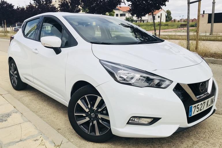 Alquiler barato de Nissan Micra 1.2 80 Acenta Plus con equipamiento GPS cerca de 28012 Madrid.