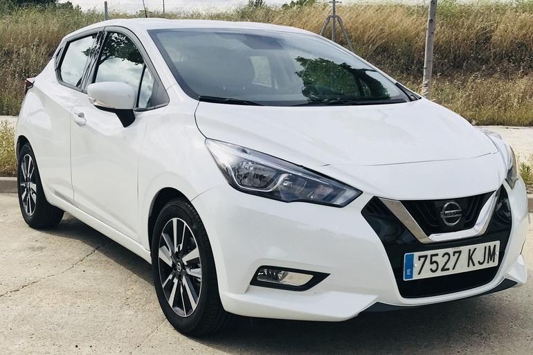 Alquiler barato de Nissan Micra 1.2 80 Acenta Plus con equipamiento Fijaciones Isofix cerca de 28012 Madrid.